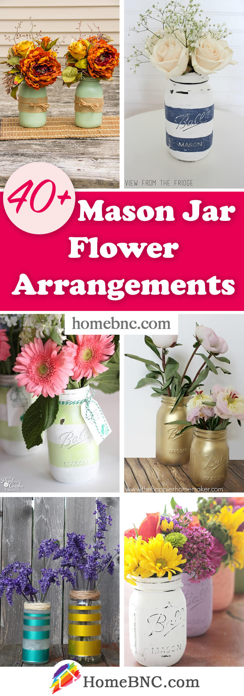 DIY Mason Jar Flower Arrangements