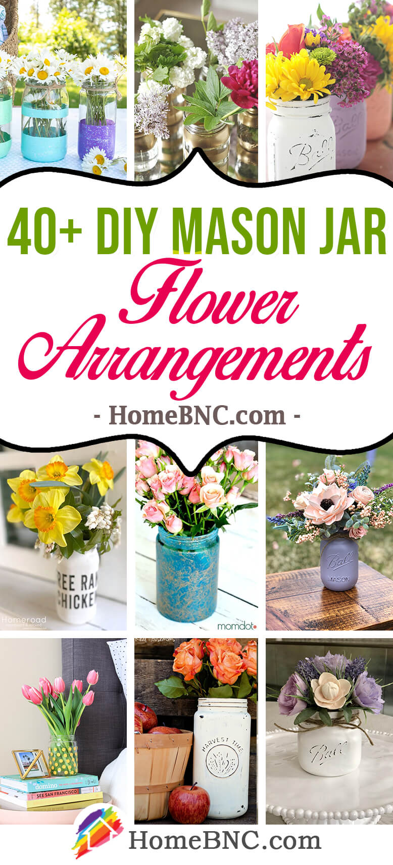 DIY Mason Jar Flower Arrangement Ideas