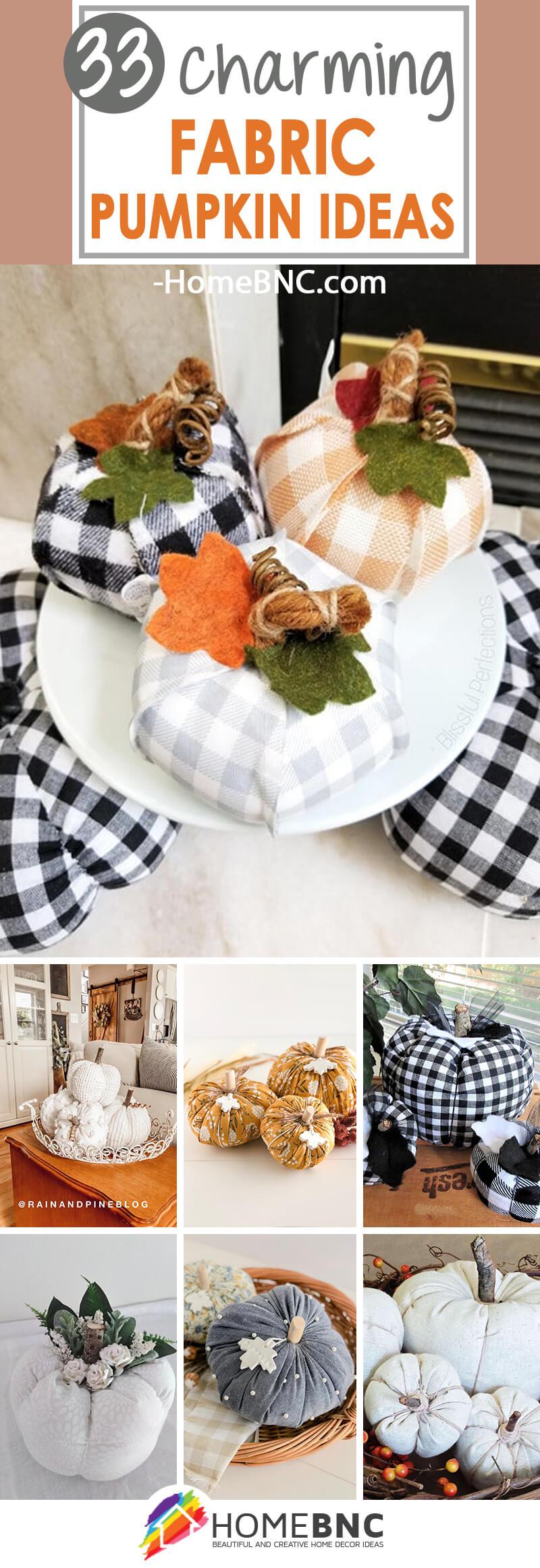 Best Fabric Pumpkin Decor Ideas