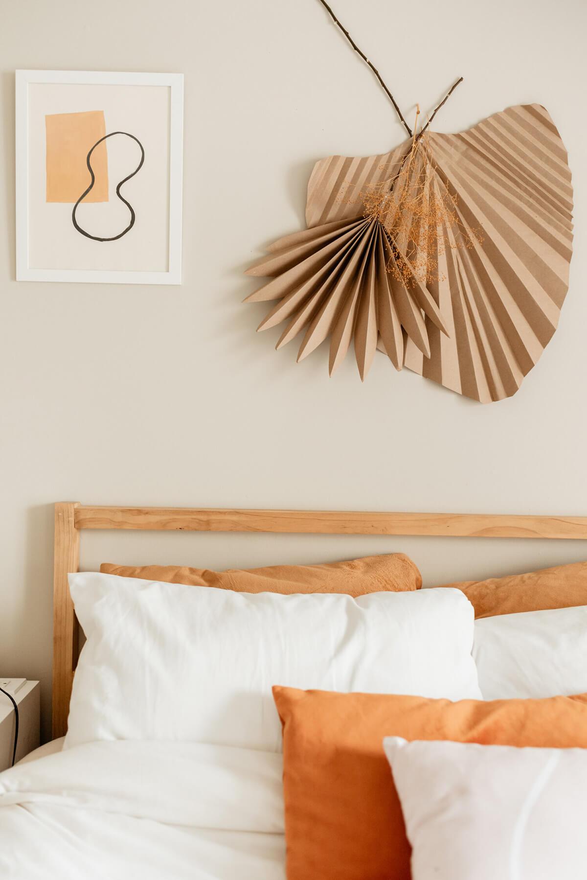 Artistic Burnt Orange and Brown Wall Art