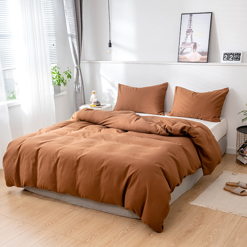 Rich and Creamy Chocolate Brown Bedroom Comforter