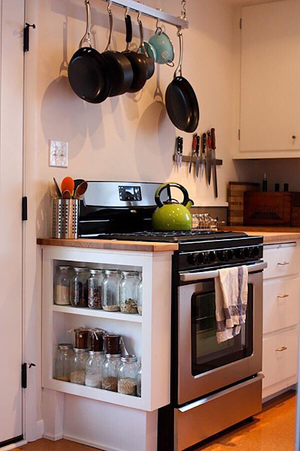 Cool Kitchen Shelf Jar Storage