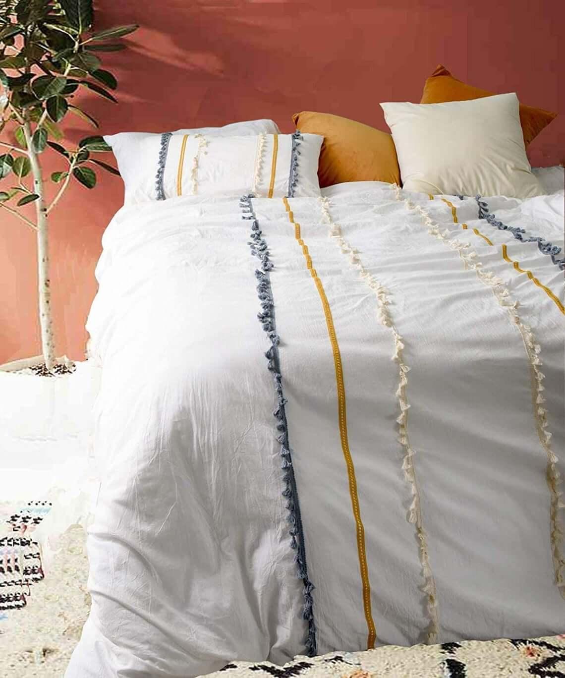 Warm and Earthy Terracotta Wall Master Bedroom