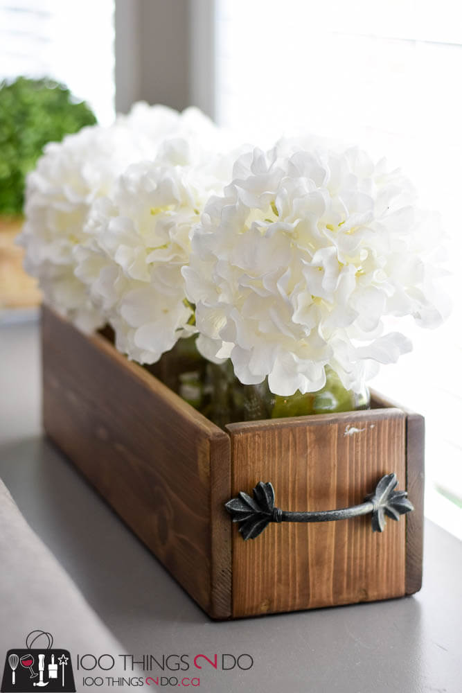 Neat and Tidy Wooden Centerpiece