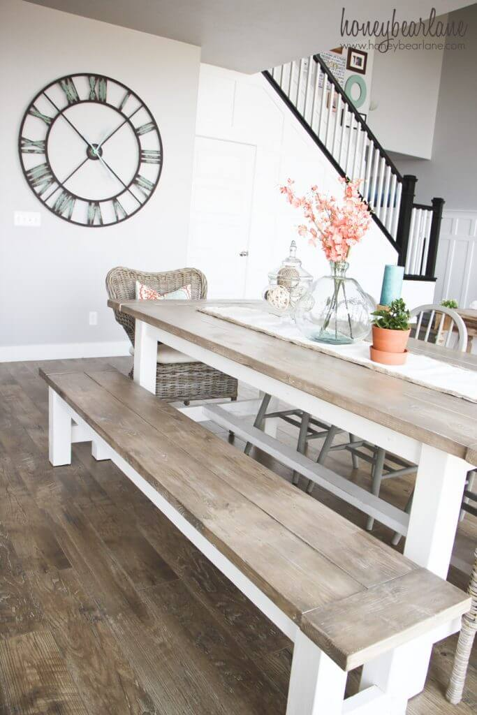 Easy DIY Farmhouse Table with Coastal Elements