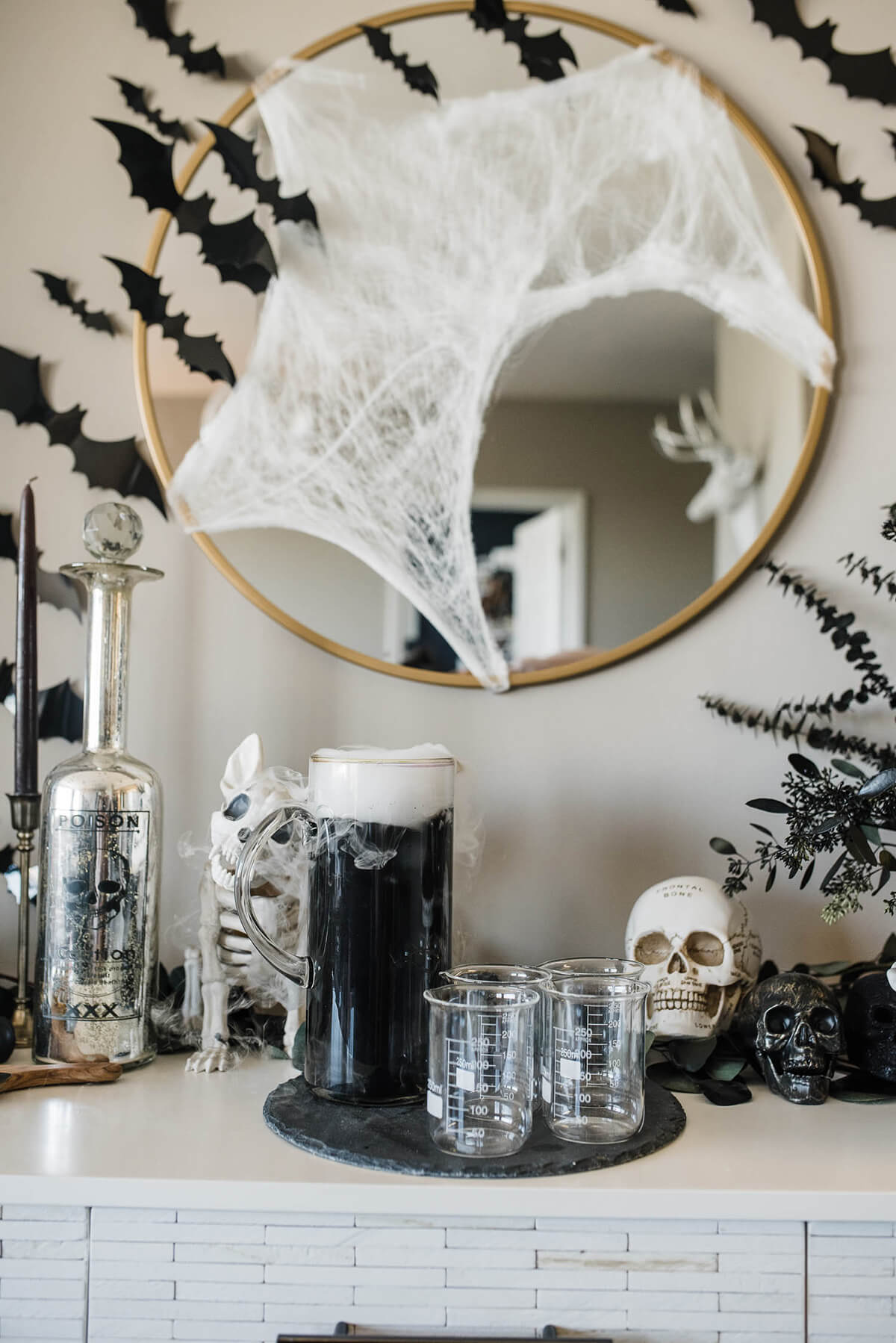 Chic and Sophisticated Halloween Party Décor