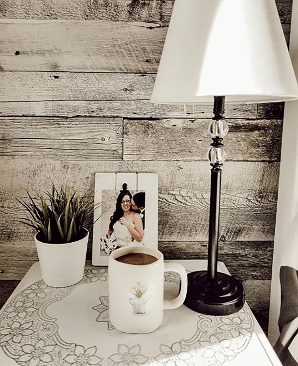 Rustic Barn Wood Wall Bedroom Retreat