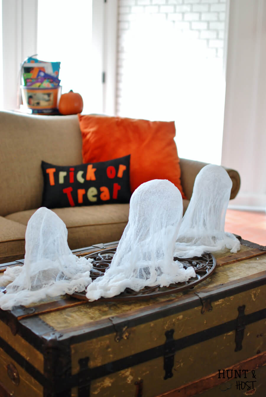 Fun Floating Cheesecloth Ghost Pals