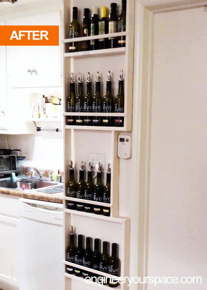 Vertical Cooking Oil Bottle Shelf Holder