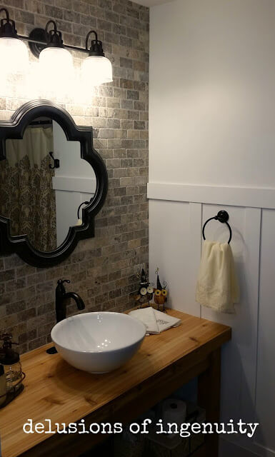 Stunning Rural Bathroom Vanity Setup