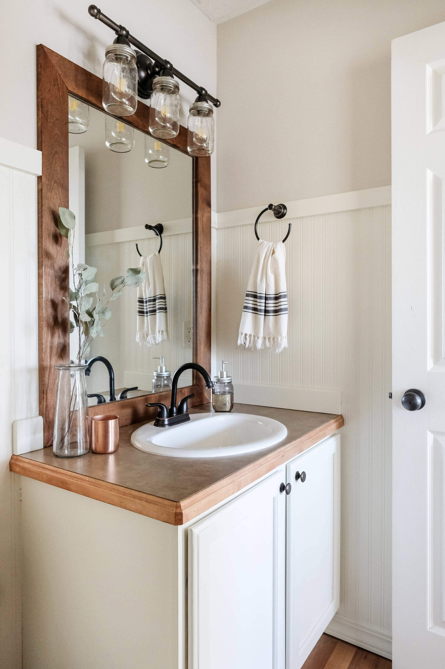 Down-Home Wood Themed Country Bathroom