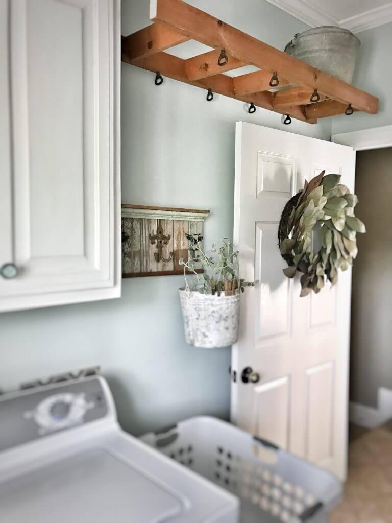 Ladder Shelf Makes Amazing Indoor Clothes Line