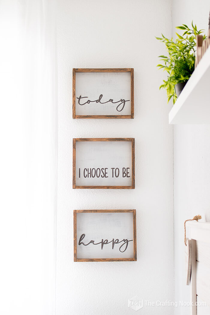 Cool Triptychs Style Wooden Inspirational Signs