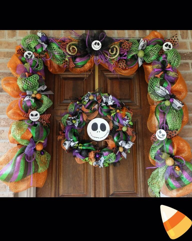 Jack Skellington Multicolor Garland and Wreath