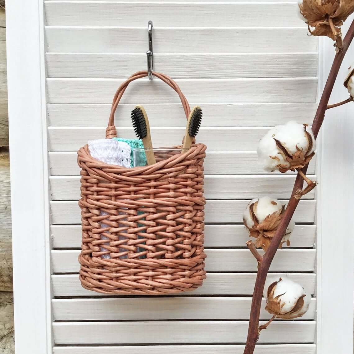 Oversized Hanging Basket on a Hook