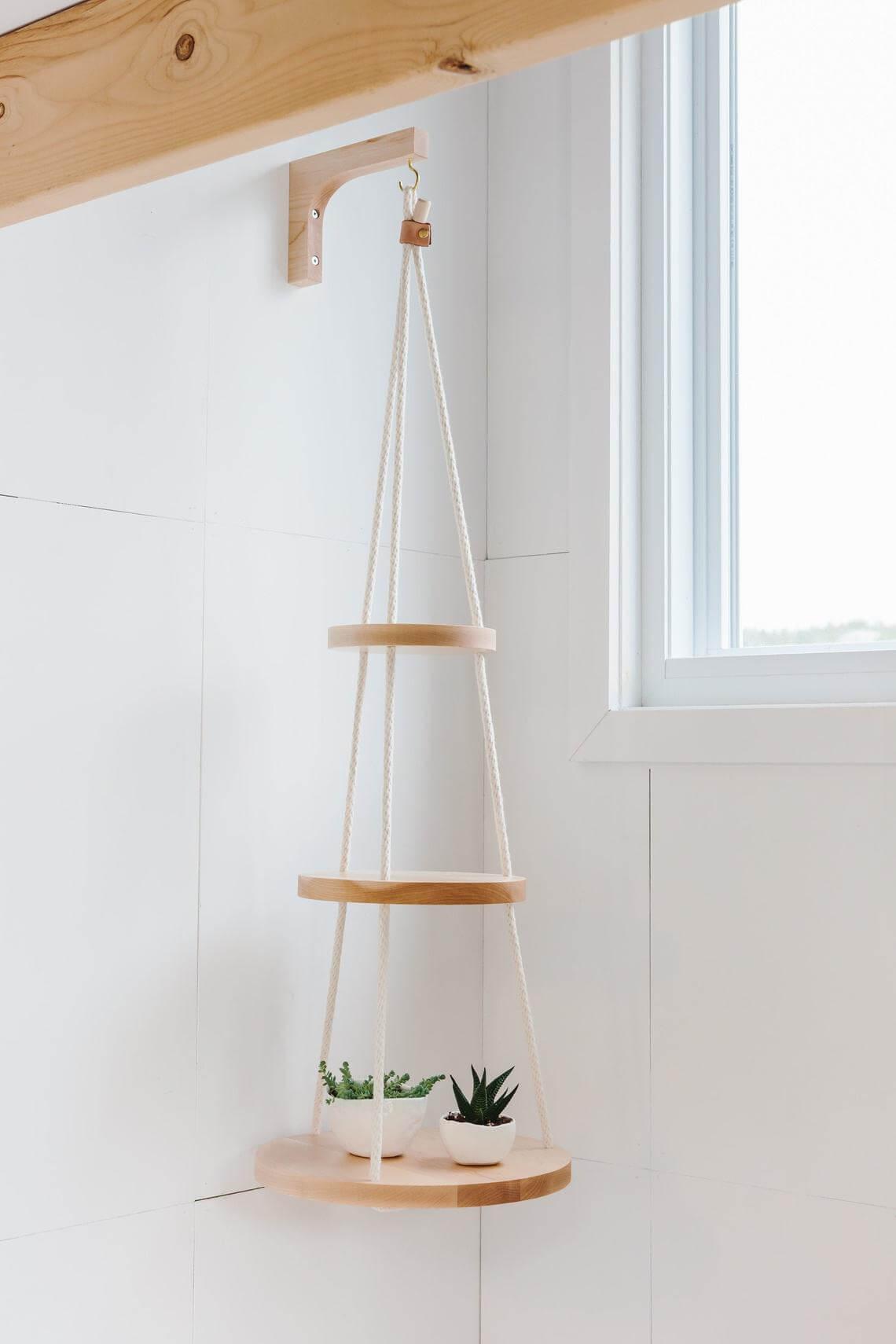 Hanging Modern Contemporary Tiered Bathroom Shelf