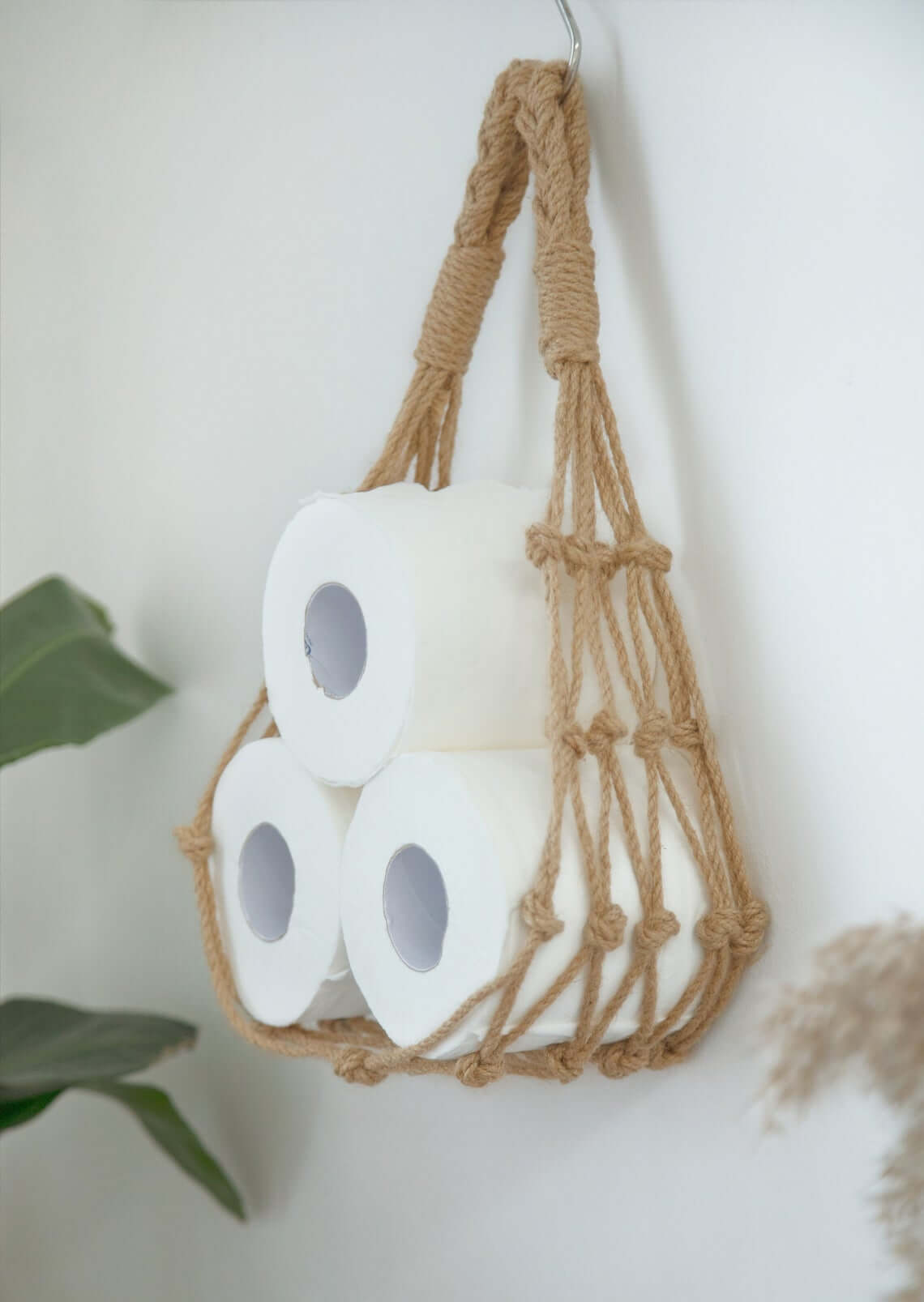 Nautical Rope Hanging Toilet Paper Holder