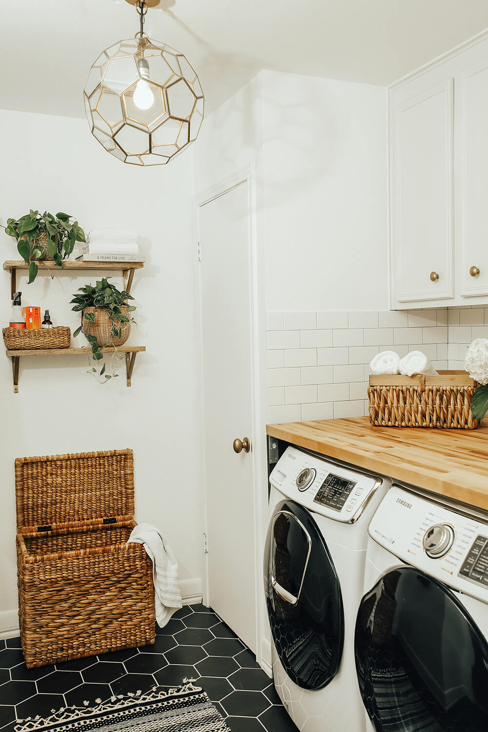 Hexagon Haven in Your Farmhouse Laundry Room