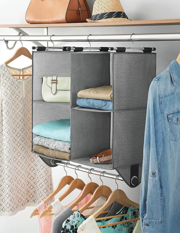 Whitmor 4-Section Closet Shelving Organizer