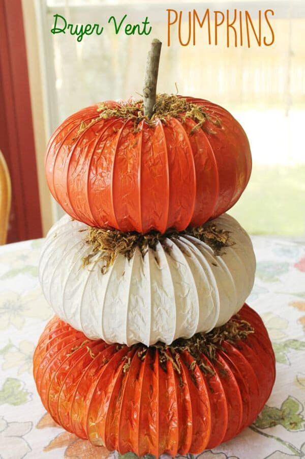 Fun Dryer Vent Pumpkin Topiary