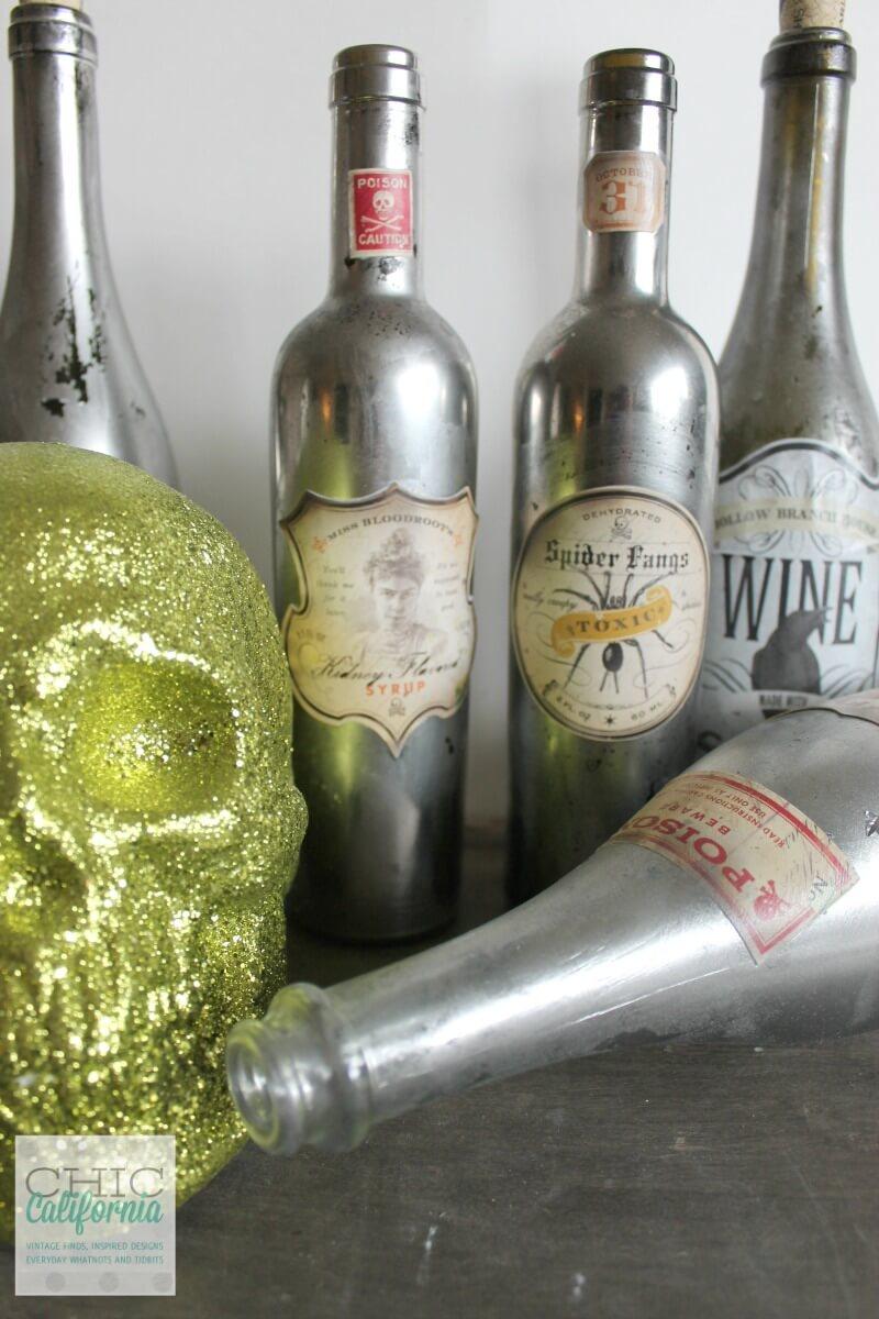 Exciting Mercury Glass Poison Bottle Setup