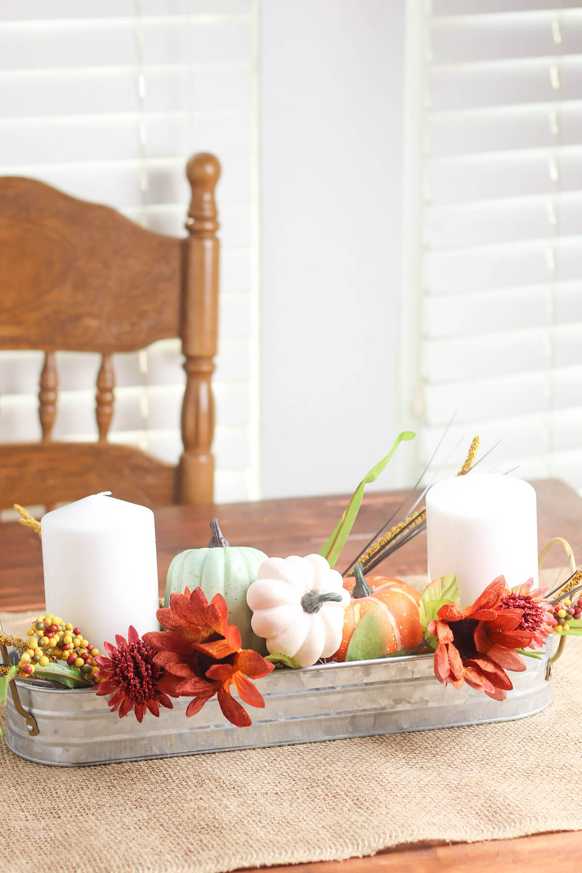 Rustic Decorative Pumpkin Tablescape Display