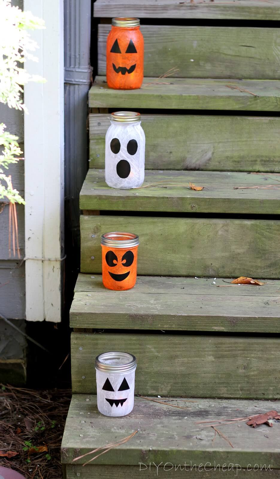Jack O'Lantern Candle Holder Decorative Jars