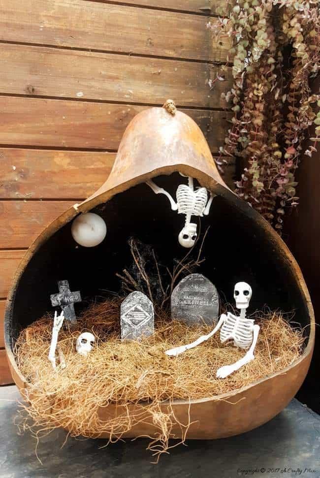 Easy Fairy Skeleton Graveyard Centerpiece