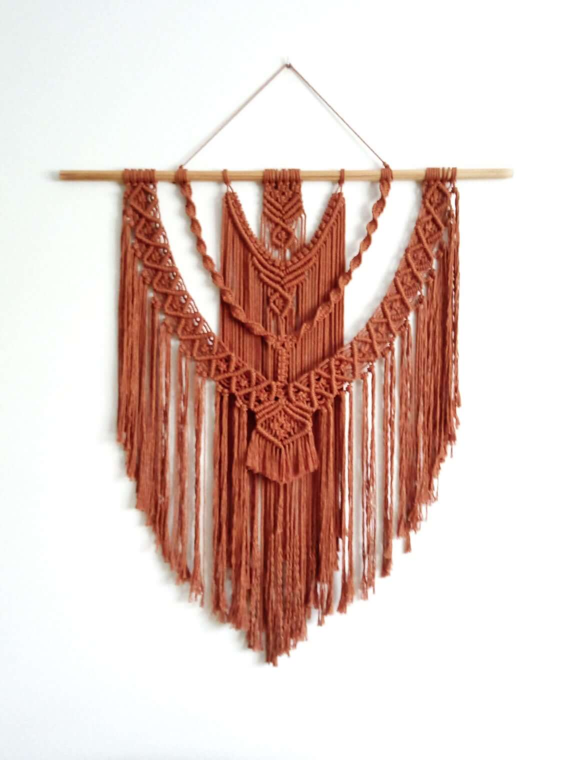 Unique Hanging Macramé Wall Tapestry