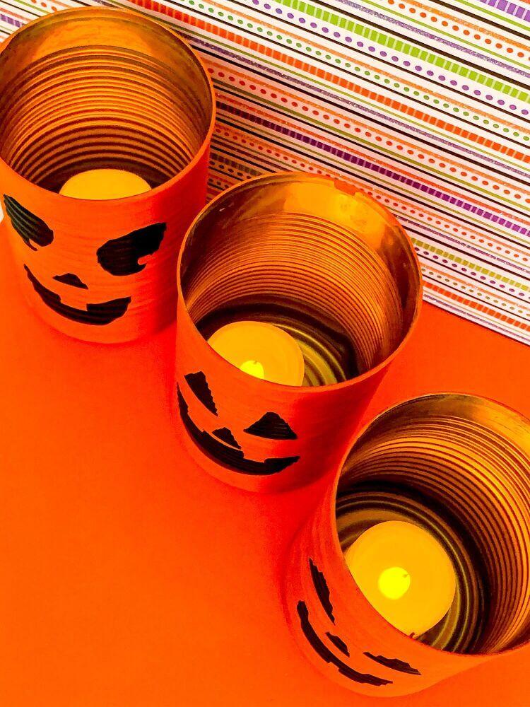 Decorative Tin Can Halloween Lanterns