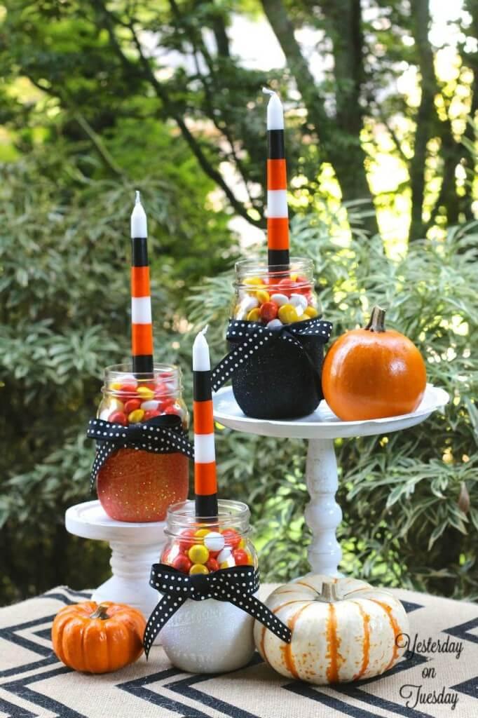 Elegant Candy Jar Candleholders