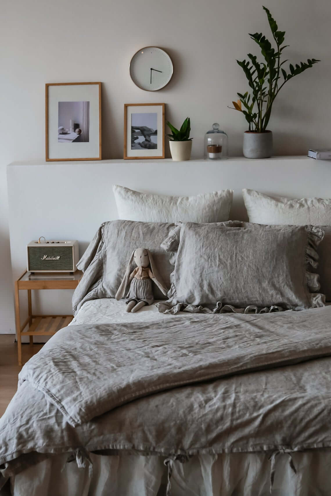 Clean, Crisp, and White Bedroom Design