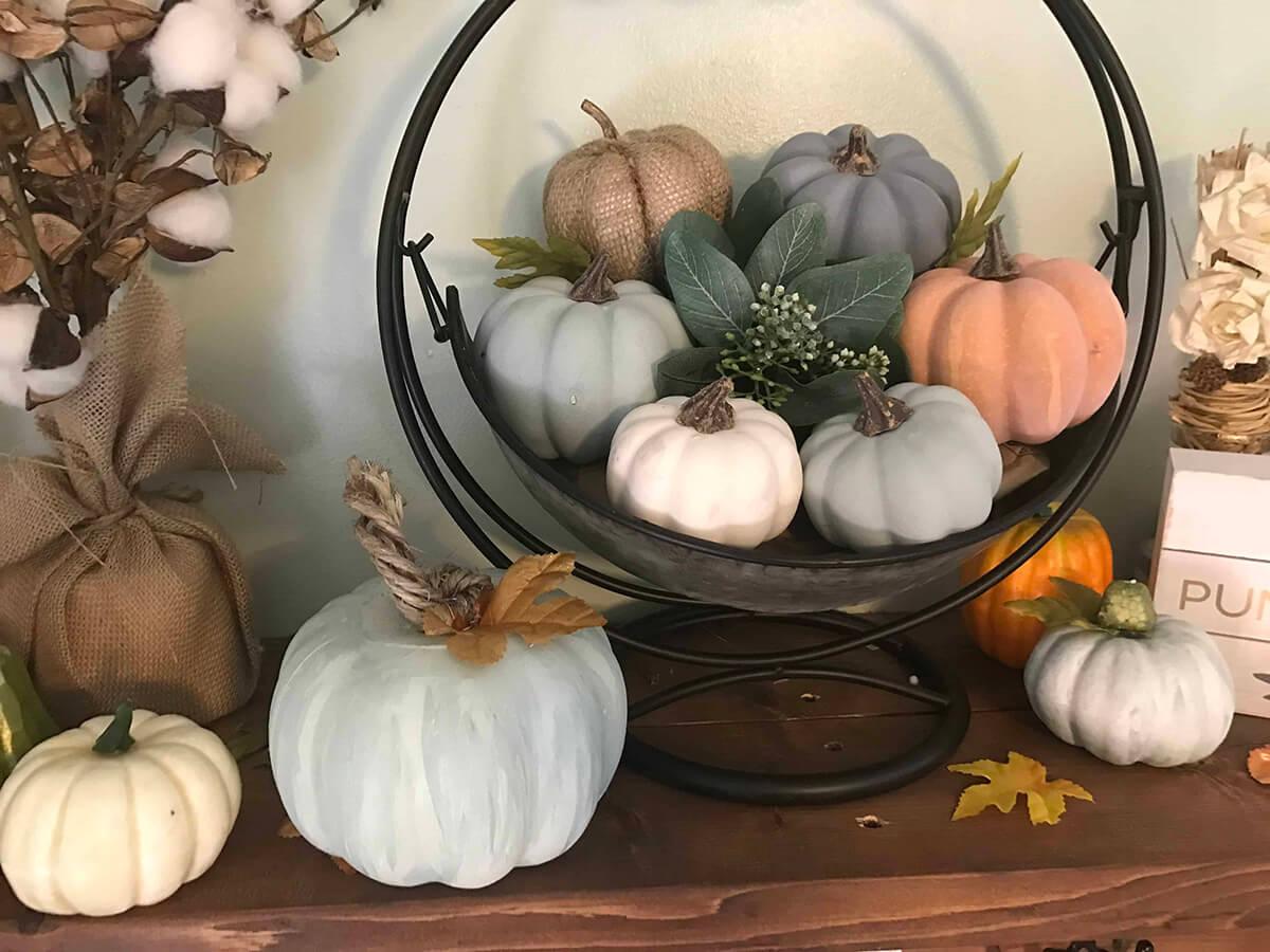 Tons of Texture in Fall Pumpkin Design
