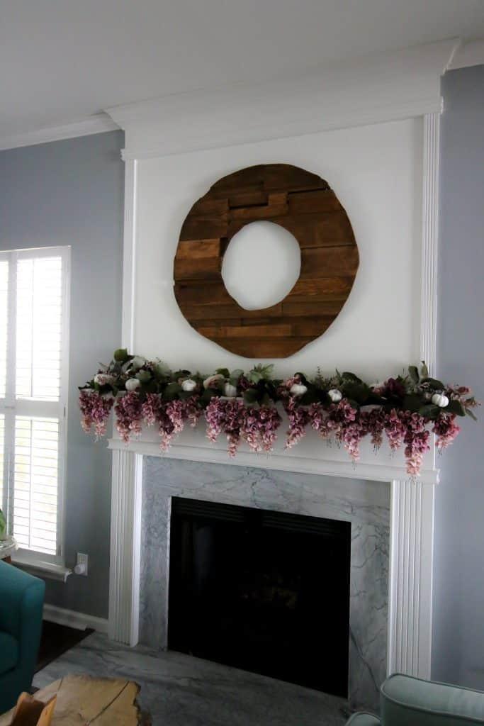 Dark Toned Scrap Wood Wreath