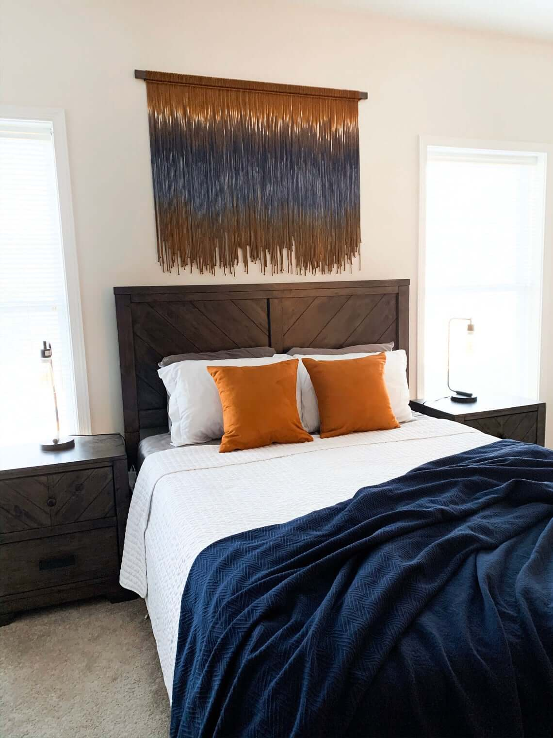 Bronze and Blue Earth Tone Bedroom