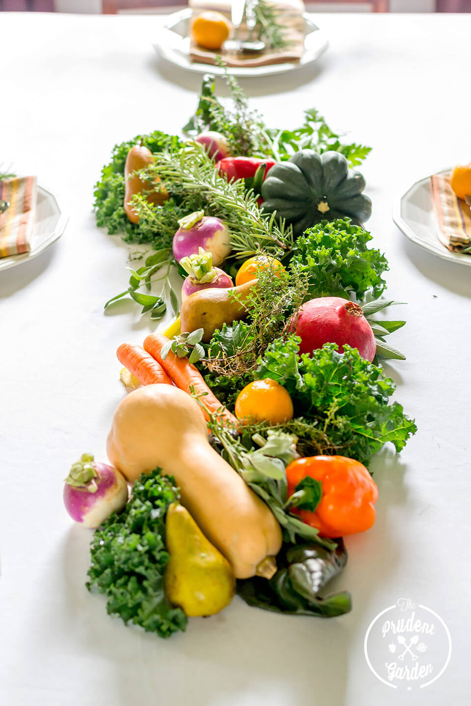 Beautiful Fall Veggies Edible Centerpiece
