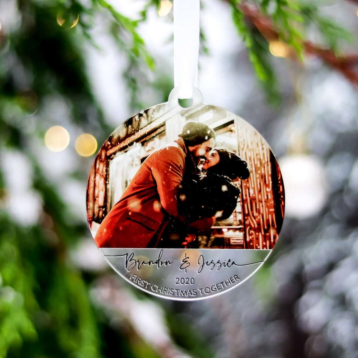 Custom Picture Engraved Personalised Bauble