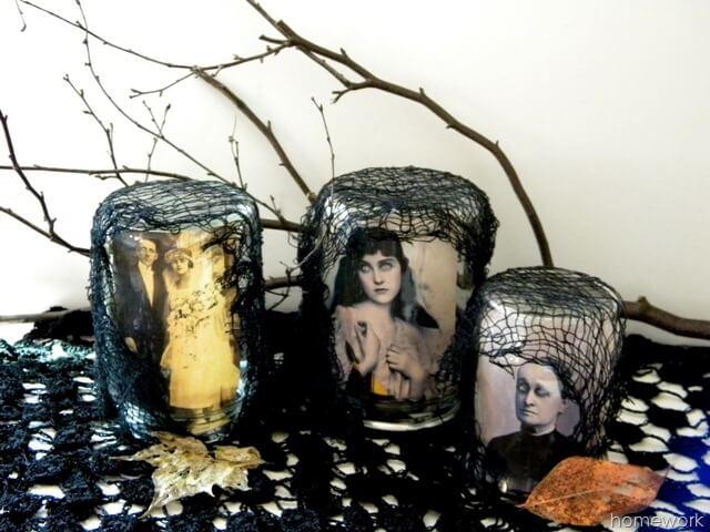 Hauntingly Scary Halloween Portrait Jars