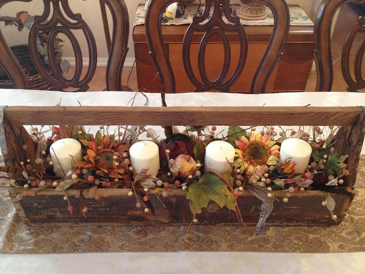 A Helpful Harvest Fall Farmhouse Centerpiece