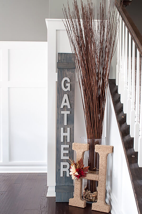 Dress Up Your Staircase Corner this Fall