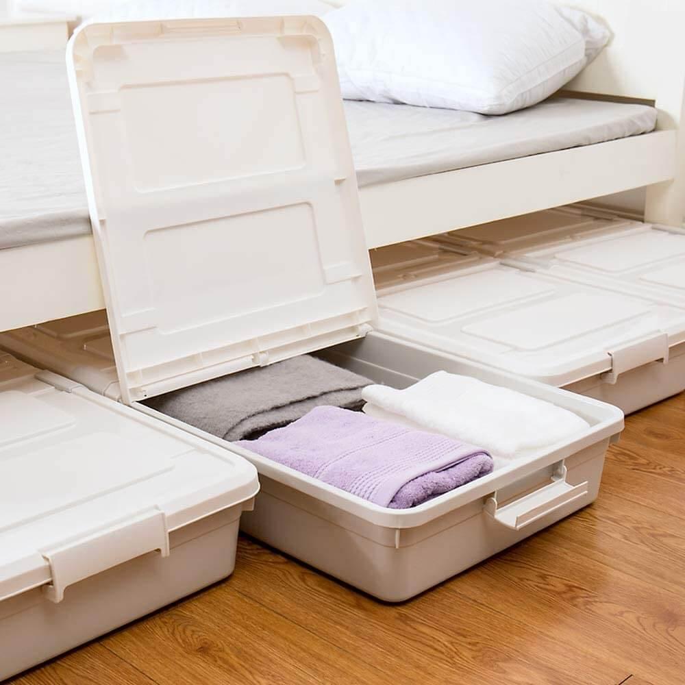 3-Pack Under Bed Wheeled Storage Bin