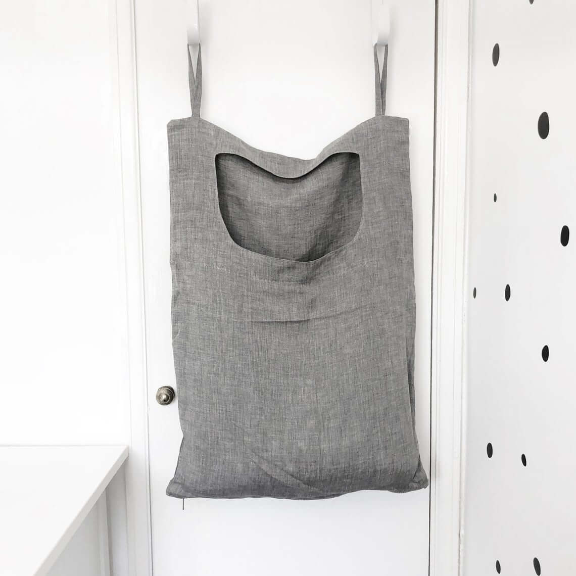 Over-the-door Gray Laundry Bag