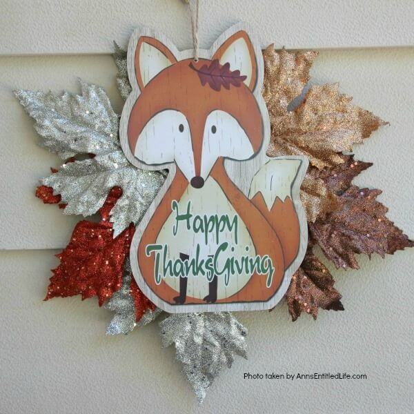 Red Fox Happy Thanksgiving Sign