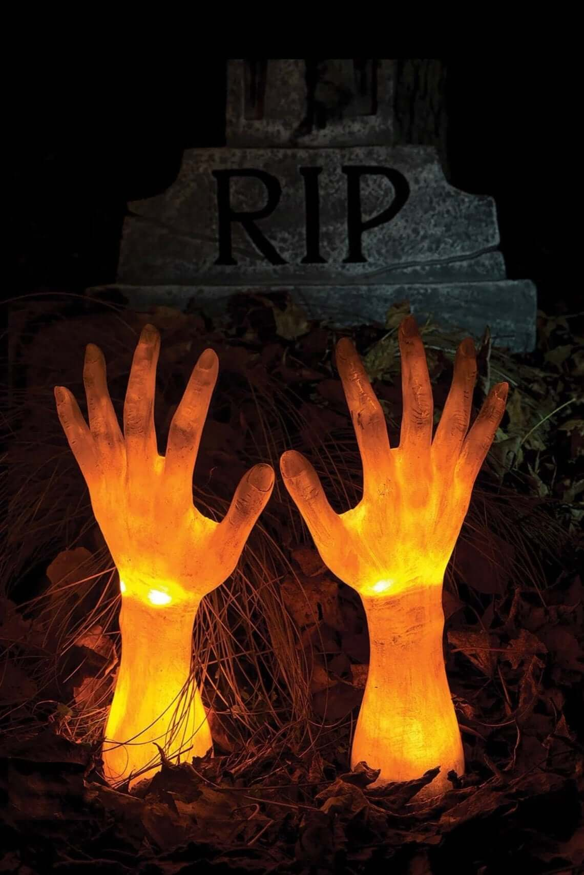 Glowing Corpse Hands Reaching for Freedom