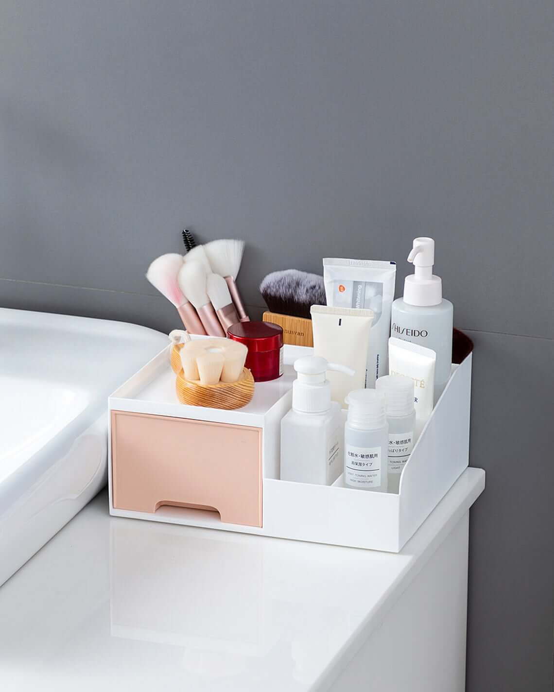 Sink side Cosmetic and Skincare Organizer