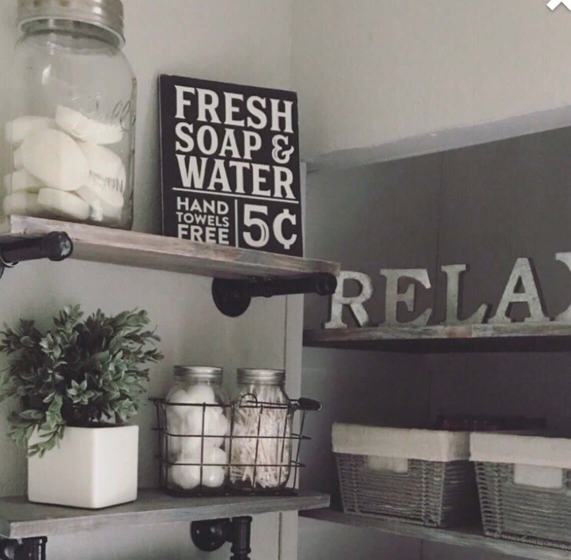 Painted Lettered Rustic Wooden Sign