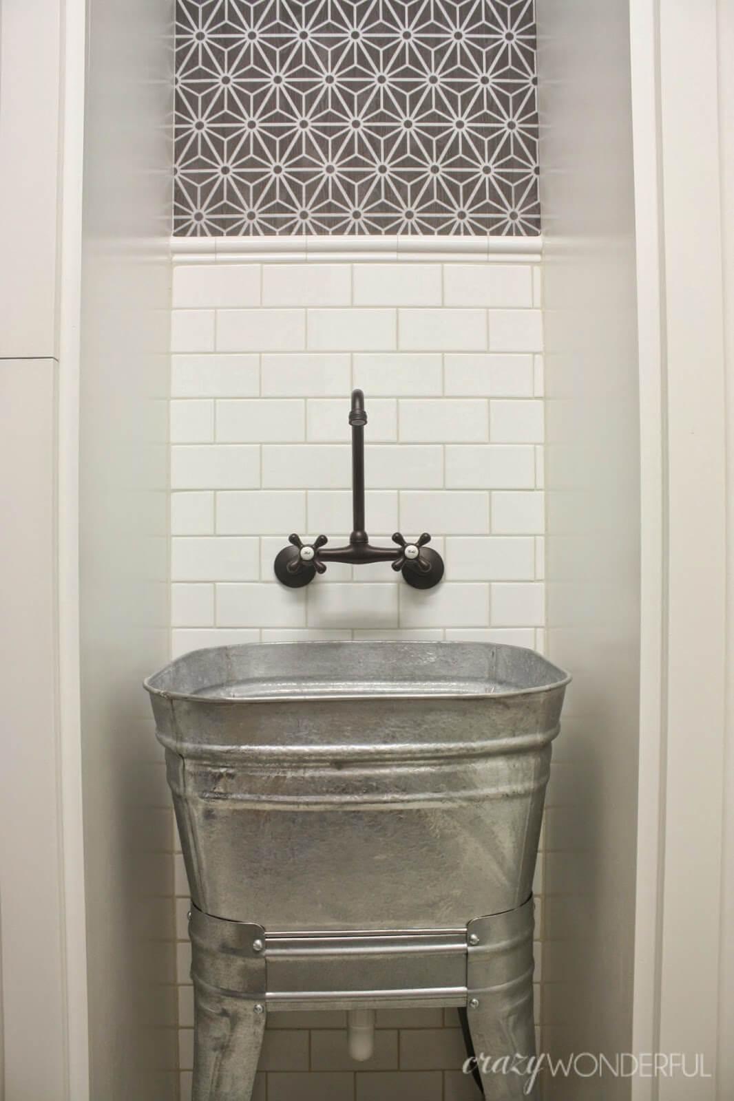 Great Grains Galvanized Metal Wash Tub