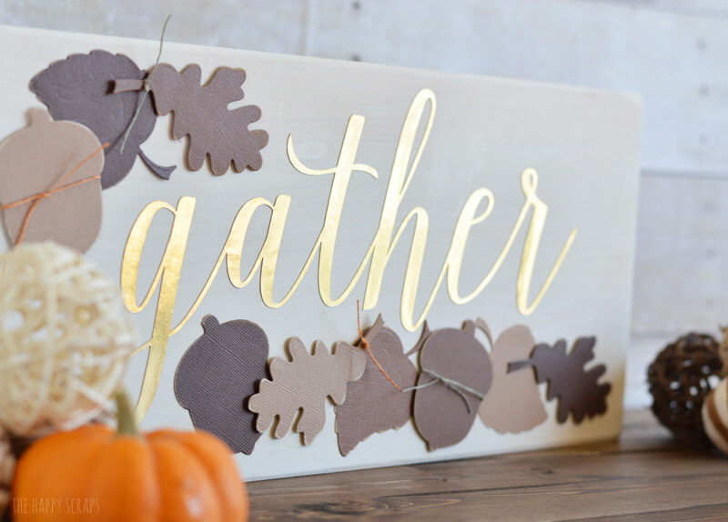 Golden Gather Thanksgiving Time Sign
