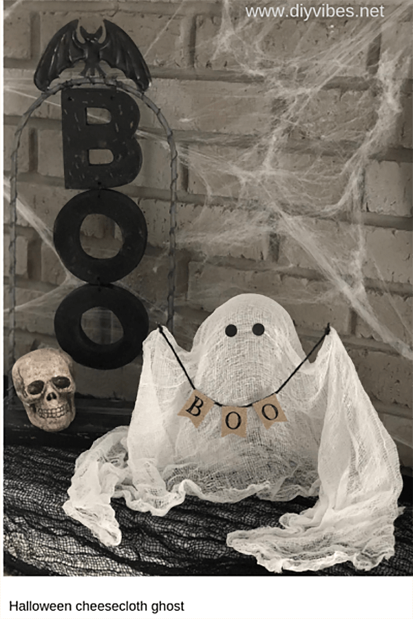 Sign Carrying Cheesecloth Ghost Design