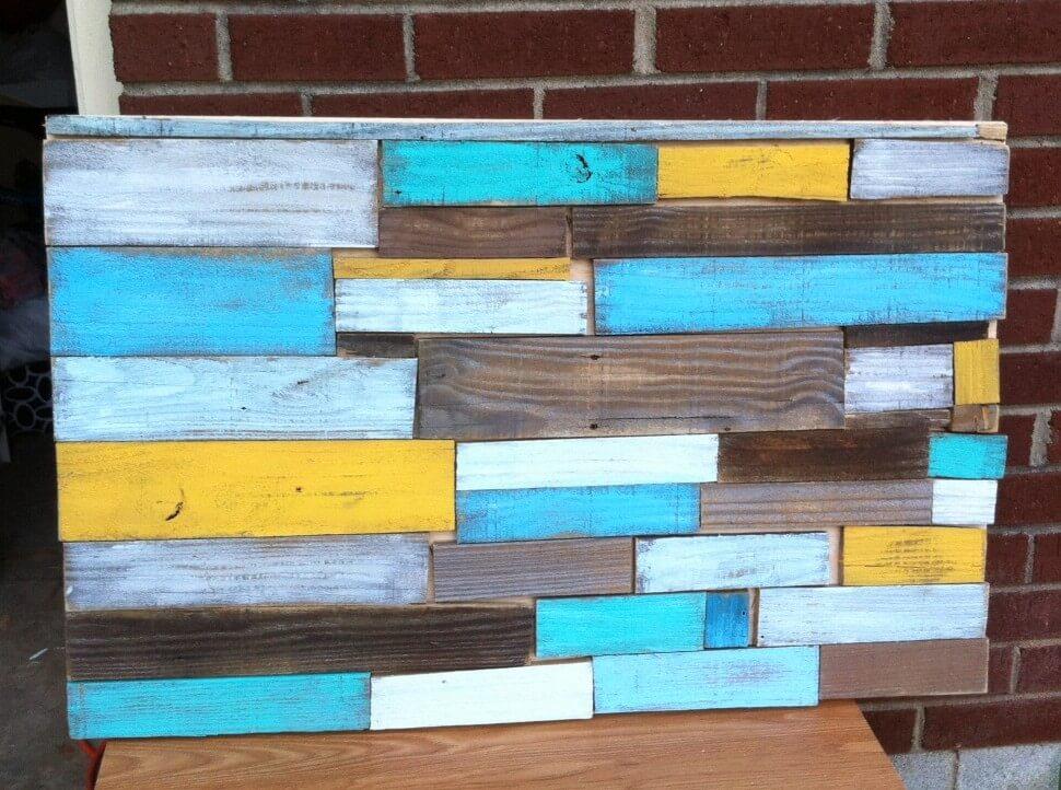 Vibrant Multicolored Canvas Wood Art